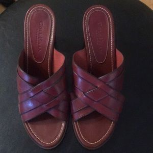 Cole Haan Red Slip-On High Heel Shoes